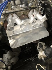 Intake and heat shield together